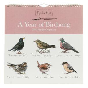 A Year of Birdsong 2021 Family Organiser Wall Calendar