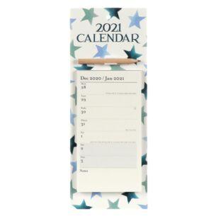 Winter Star 2021 Magnetic Memo Calendar