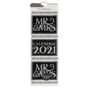 Mr & Mrs 2021 Slim Calendar