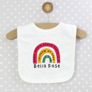 Personalised Rainbow Bib