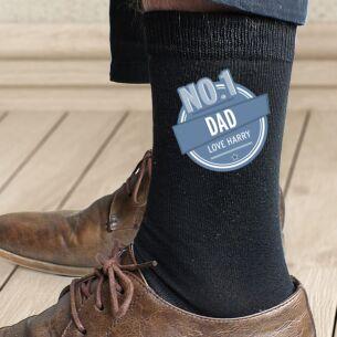 Personalised No.1 Men's Socks