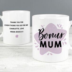 Personalised 'To My Bonus Mum' Mug