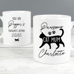 Personalised 'Pawsome Cat Mum' Mug