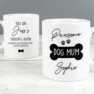 Personalised 'Pawsome Dog Mum' Mug