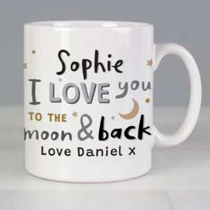 Personalised 'To The Moon and Back Mug'