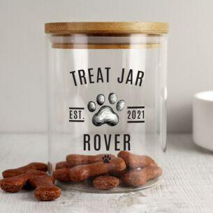 Personalised Pet Treats Jar