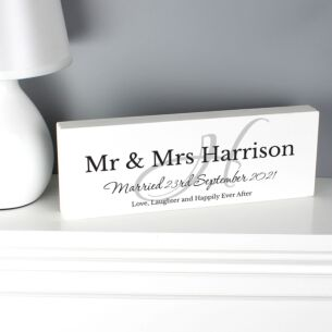 Personalised Family Wooden Block Sign