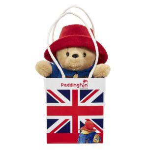 Little Paddington Bear in Union Jack Bag