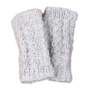 Chamonix Oatmeal Fingerless Gloves
