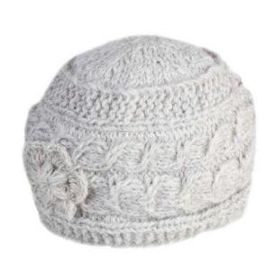 Chamonix Oatmeal Flower Beanie Hat