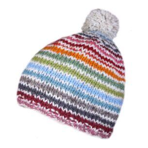 Hoxton Stripe Bobble Beanie Hat