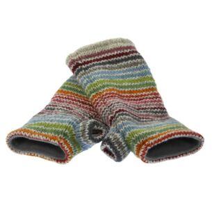 Hoxton Stripe Fingerless Gloves