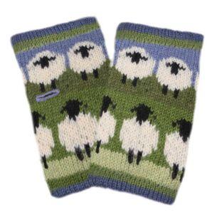 Flock of Sheep Fingerless Gloves