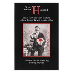 'Secrets' Husband Valentine's Day Card