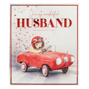 'Car' Husband Valentine's Day Card