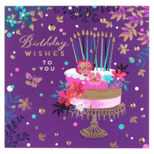 Emerald Cake Birthday Card