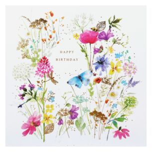 Fields of Gold 'All Over Floral' Birthday Card