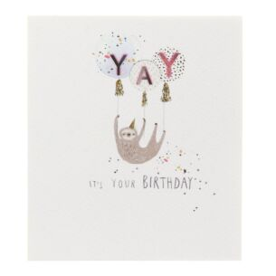 Paperlink Sloth Birthday Card