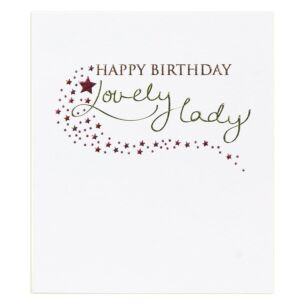 Mimosa Lovely Lady Birthday Card