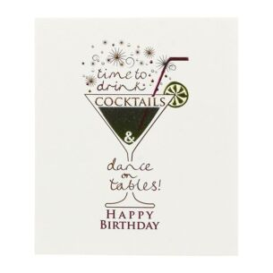 Mimosa 'Time To Drink' Birthday Card