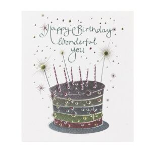 Paperlink Mimosa 'Happy Birthday Wonderful You' Card