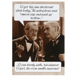 Rhubarb Pie 'Deodorant Stick' Birthday Card