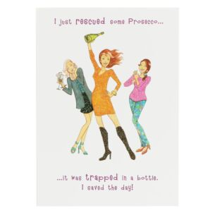 Sassy Prosecco Birthday Card