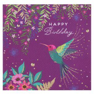 Emerald Hummingbird Birthday Card