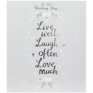 Love and Laughter On Your Wedding Day Card