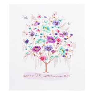 Floral Tree Mother's Day Card