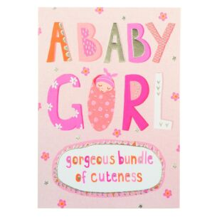 Bangers & Flash Baby Girl Card