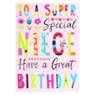 Bangers & Flash Niece Birthday Card