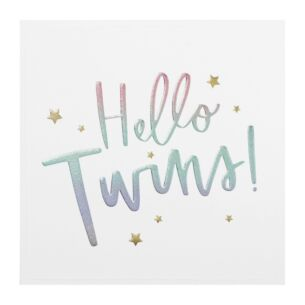 Cloud Nine 'Hello Twins' New Babies Card