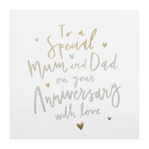 Cloud Nine 'Mum & Dad' Anniversary Card
