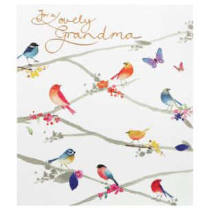 Delphine 'Lovely Grandma' Birthday Card