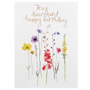 Delphine 'Dear Aunt' Birthday Card