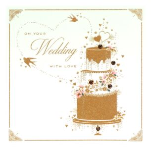 Gold Dust Wedding Card