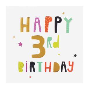 High Five 3rd Birthday Card