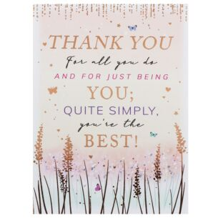 Love & Laughter 'Thank You' Greetings Card