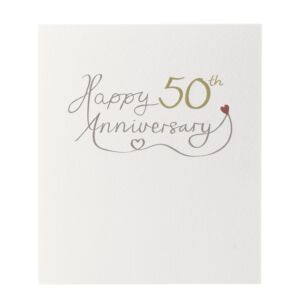 Mimosa 'Happy 50th Anniversary' Card