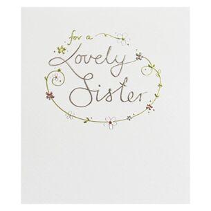 Lovely Sister Birthday Card