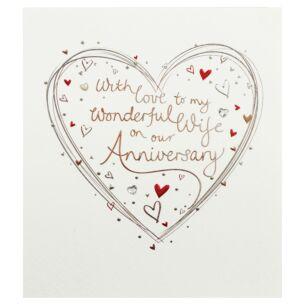 Mimosa 'Wonderful Wife' Anniversary Card