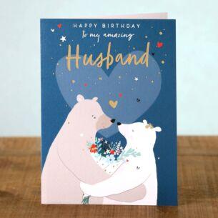 Nutmeg Husband Birthday Card