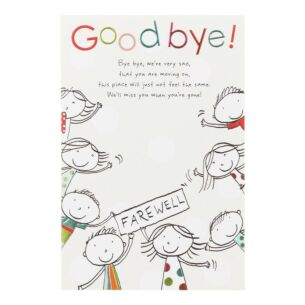 Paperlink 'Goodbye!' Leaving Card