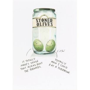 Paperlink Colourful Mind Stoned Olives Greetings Card