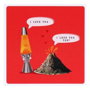 'Lava You' Valentine's Day Card