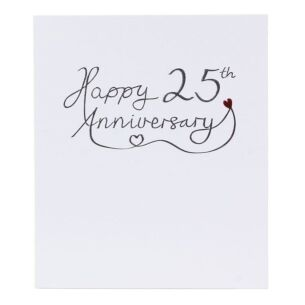 Mimosa 25th Wedding Anniversary Card