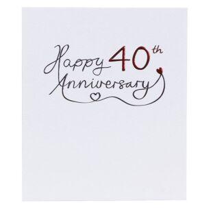 Mimosa 40th Wedding Anniversary Card