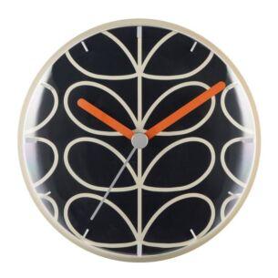 Orla Kiely Dark Grey Linear Stem Wall Clock