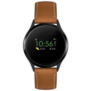 Series 4 Tan PU Leather Smart Watch